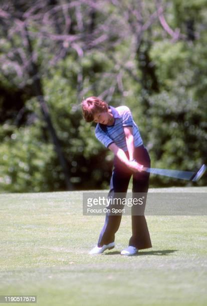 Women's golfer Jo Ann Washam in action during tournament play circa 1977 Washam was on the LPGA Tour from 197389