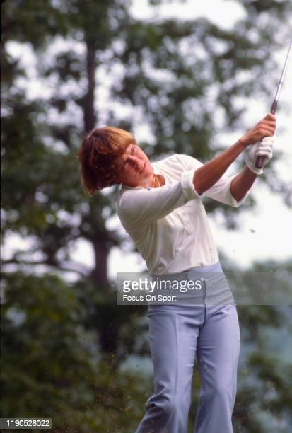 Women's golfer Jo Ann Washam in action during tournament play circa 1980 Washam was on the LPGA Tour from 197389