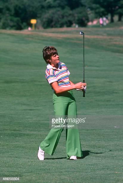 Women's golfer Jo Ann Washam in action during tournament play circa 1977