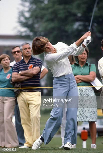 Women's golfer Jo Ann Washam in action during tournament play circa 1980