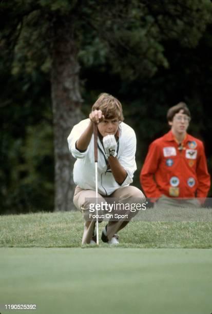 Women's golfer Jo Ann Washam looks on during tournament play circa 1977 Washam was on the LPGA Tour from 197389