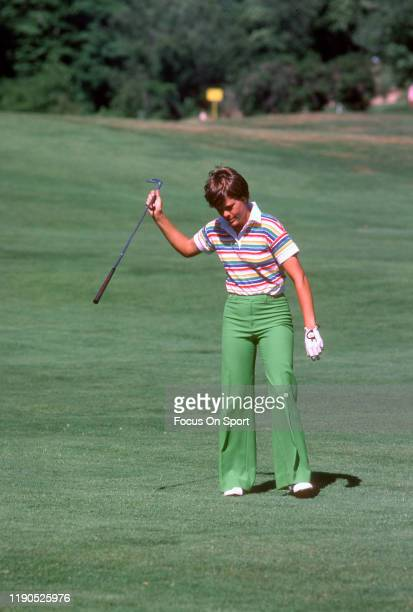 Women's golfer Jo Ann Washam reacts after a shot during tournament play circa 1977 Washam was on the LPGA Tour from 197389