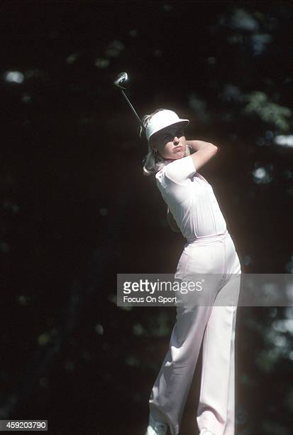 Women's golfer Laura Baugh in action during tournament play circa 1976