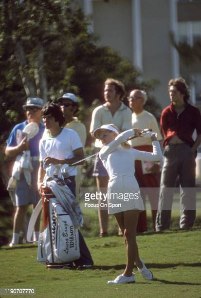 Women's golfer Laura Baugh in action during tournament play circa 1977 Baugh was on the LPGA Tour from 19732001