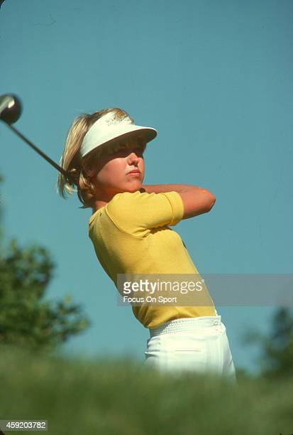 Women's golfer Laura Baugh in action during tournament play circa 1977