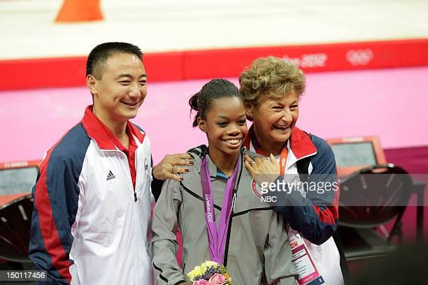 OLYMPICS Women's Gymnastics Individual AllAround Pictured Coach Liang Chow Gabby Douglas