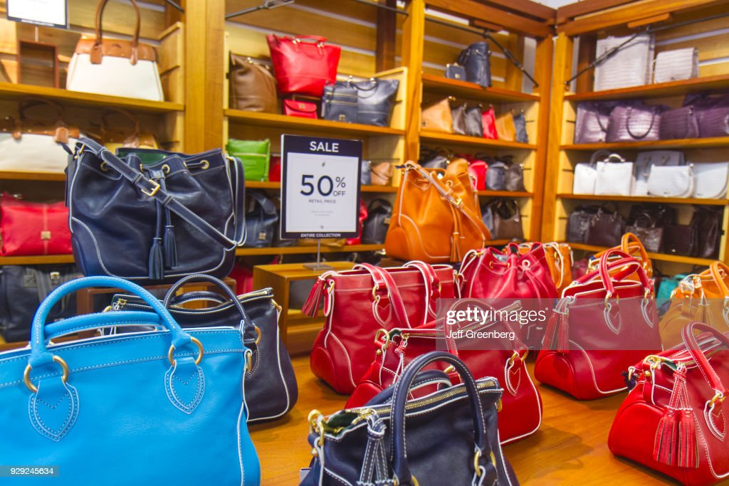 Women S Handbags On Display In Dooney Bourke At Vero Fashion Outlets News Photo