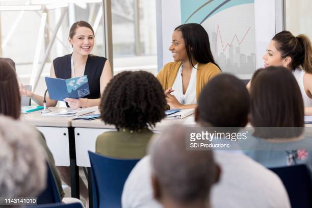 women's health around the world - panel discussion stock pictures, royalty-free photos & images