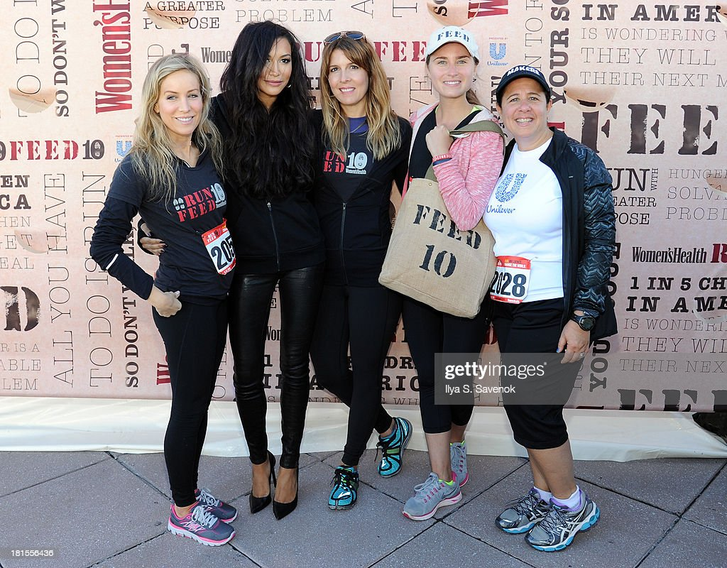 Women's Health publisher, Laura Frerer-Schmidt, Actress Naya Rivera, Editor In Chief of Women's Health, Michele Promaulayko, Lauren Bush and guest attend Women's Health Magazine RUN10 FEED10 NYC 10K Race Event at Pier 84 on September 22, 2013 in New York City.