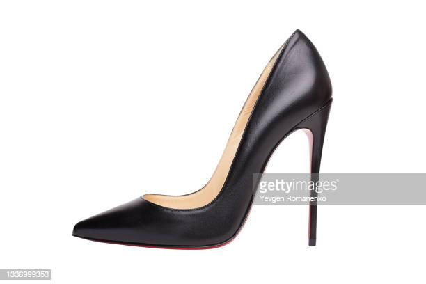 women's high-heeled shoes isolated on white background - high heels stock pictures, royalty-free photos & images