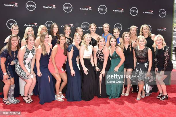S Women's Hockey Team attends The 2018 ESPYS at Microsoft Theater on July 18 2018 in Los Angeles California