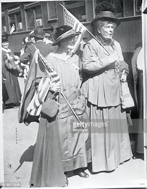 Women's Hughes campaign train will tour countryPhoto shows a rehearsal at the Grand Central Station New York on the Twentieth Century Limited of the...