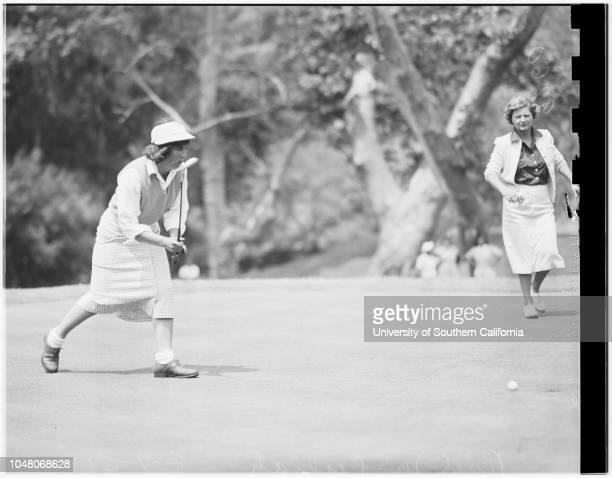 Women's Invitational Golf Tourney Riviera 09 August 1951 Ruth McCullahJosephine Gardener