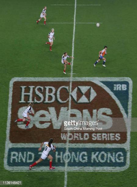 Women's Invitational II Hong Kong Cup Final match Canada vs. France at the first day of the Cathay Pacific/ HSBC Hong Kong Rugby Sevens 2014 Friday,...