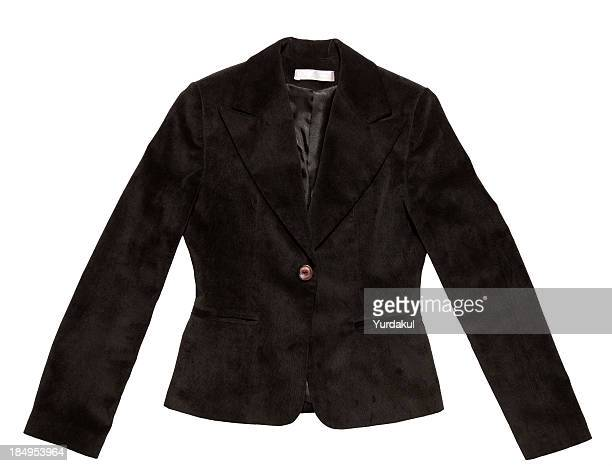 women's jacket - black coat stock photos and pictures