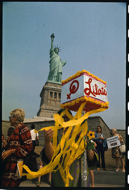 Women Protesting At Statue Of Liberty Pictures Getty Images