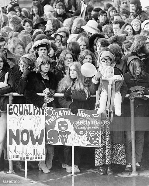 Women's Liberation Movement March From Hyde Park To Trafalgar Square Women's Liberation Movement marched for the first time in Britain today they...