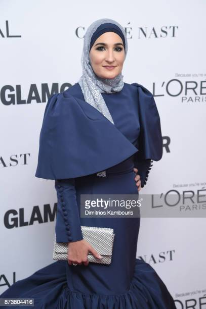 Womens March Assistant Treasurer Linda Sarsour attends Glamour's 2017 Women of The Year Awards at Kings Theatre on November 13 2017 in Brooklyn New...