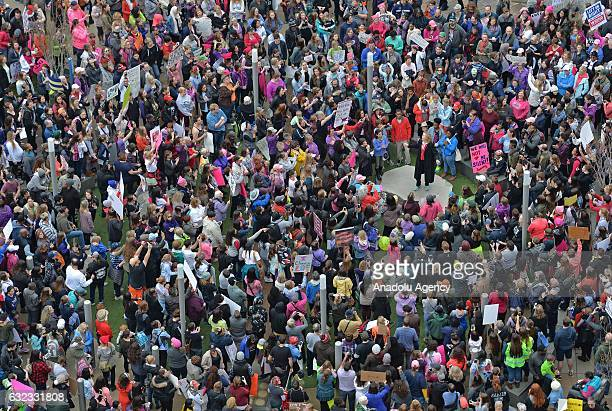 Women's march in Charlotte attended by an estimated 10000 demonstrators as a sister march to the one in Washington DC while Charlotte mayor Jennifer...