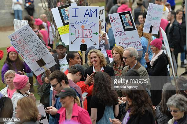 Women's march in Charlotte attended by an estimated 10,000 demonstrators as a sister march to the one in Washington DC while Charlotte mayor Jennifer...
