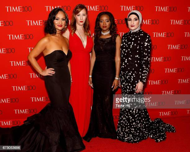 Women's March National CoChairs Carmen Perez Bob Bland Tamika D Mallory and Linda Sarsour attend the 2017 Time 100 Gala at Jazz at Lincoln Center on...