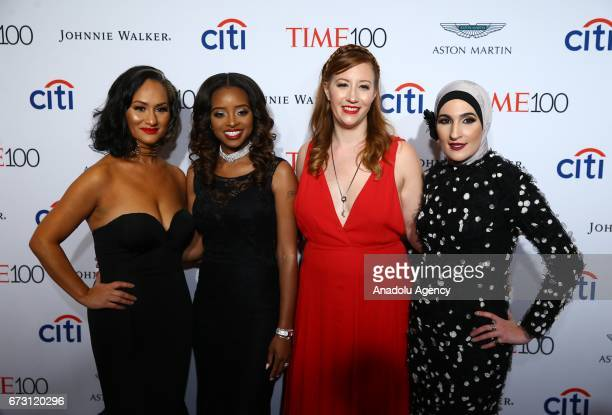 Women's March National CoChairs Carmen Perez Tamika D Mallory Bob Bland and Linda Sarsour attend the 2017 TIME 100 Gala at Jazz at Lincoln Center in...