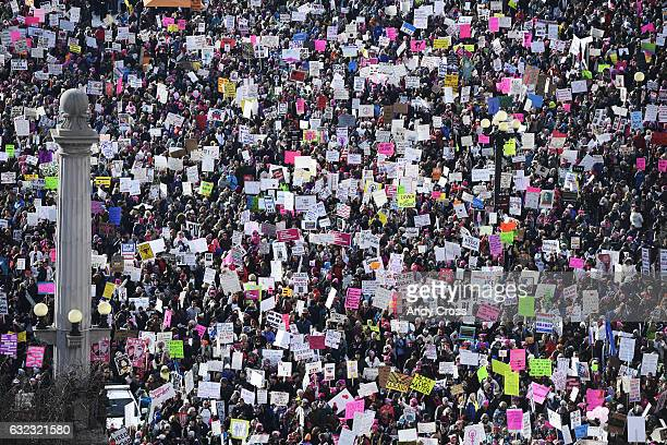 Women's March on Denver January 21 2017 Over 100000 people converged on downtown Denver in coordination with demonstrations across the country to...