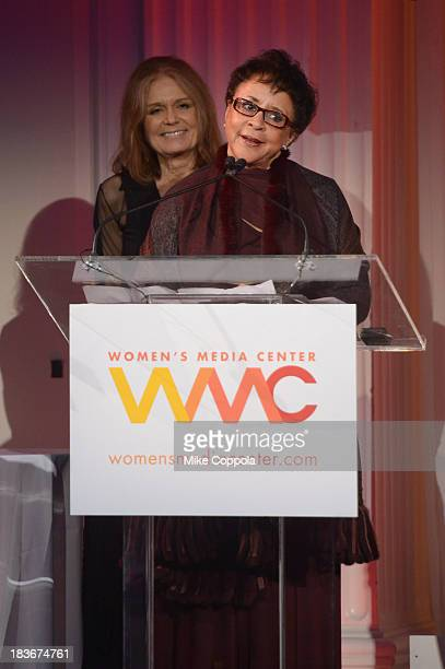 Women's Media Center Visionary Role Model and Corporate Leader Award winner Sheila C Johnson speaks onstage at the 2013 Women's Media Awards on...