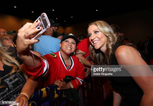 Women's National Hockey Team player Meghan Duggan arrives at the 2018 NHL Awards presented by Hulu at the Hard Rock Hotel Casino on June 20 2018 in...