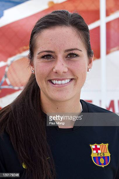 S Women's National Player Ali Krieger poses for a photograph at the 2011 Celebrity Soccer Challenge at Kastles Stadium at the Wharf on July 31 2011...