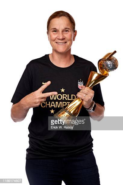 Women's national soccer coach Jill Ellis is photographed for Sports Illustrated on July 10, 2019 in New York City. COVER IMAGE. CREDIT MUST READ:...