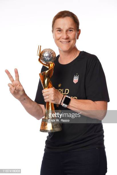 Women's national soccer coach Jill Ellis is photographed for Sports Illustrated on July 10, 2019 in New York City. CREDIT MUST READ: Erick W....