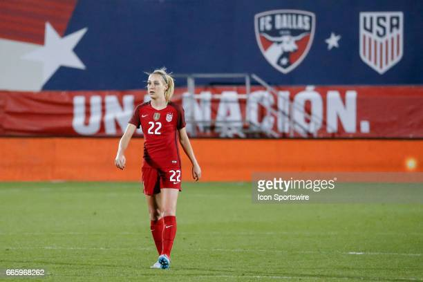 S Women's National Soccer Defender Megan Oyster makes her first appearance during the international friendly soccer match between the United States...