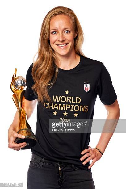 Women's national soccer player Becky Sauerbrunn is photographed for Sports Illustrated on July 10, 2019 in New York City. COVER IMAGE. CREDIT MUST...