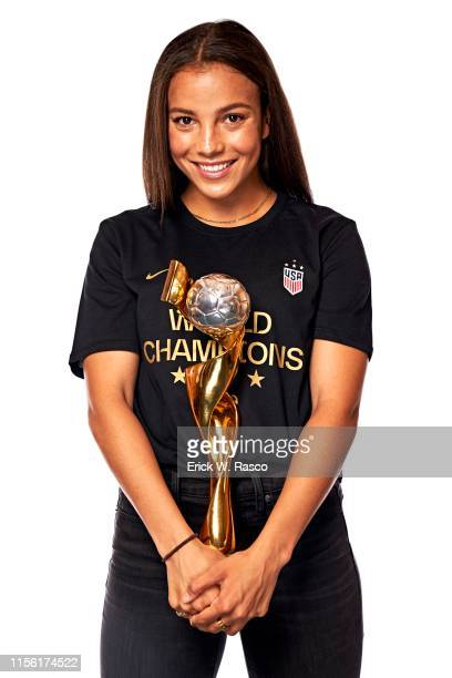 US Women's national soccer player Mallory Pugh is photographed for Sports Illustrated on July 10 2019 in New York City COVER IMAGE CREDIT MUST READ...