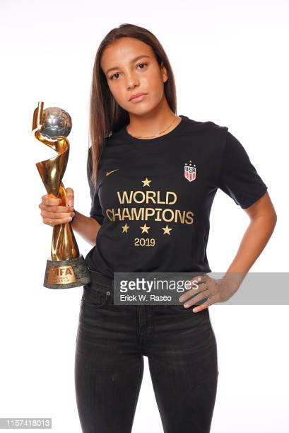 US Women's national soccer player Mallory Pugh is photographed for Sports Illustrated on July 10 2019 in New York City CREDIT MUST READ Erick W...