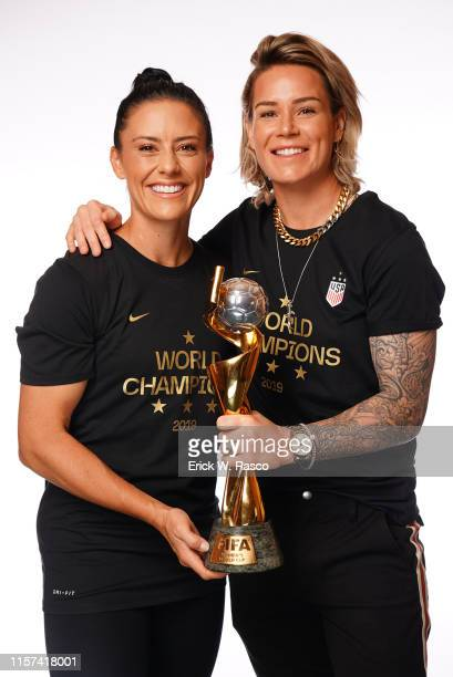 US Women's national soccer players Ashlyn Harris and Ali Krieger are photographed for Sports Illustrated on July 10 2019 in New York City CREDIT MUST...