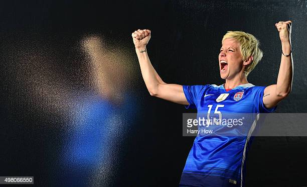 Women's national soccer team player Megan Rapinoe poses for a portrait at the USOC Rio Olympics Shoot at Quixote Studios on November 20, 2015 in Los...