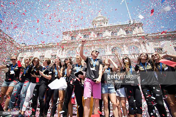US Women's National Soccer Team players Abby Wambach Christine Rampone Carli Lloyd Alex Morgan Morgan Brian Julie Johnston Lauren Holiday Meghan...