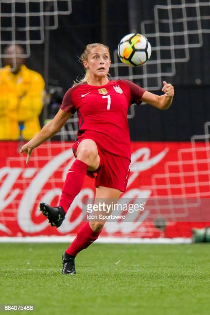 S Womens National Team defender Abby Dahlkemper blocks the ball during the match between the US Womens National Team and the Korea Republic on...