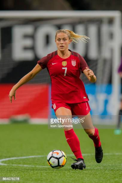 S Womens National Team defender Abby Dahlkemper looks on during the match between the US Womens National Team and the Korea Republic on October 19...