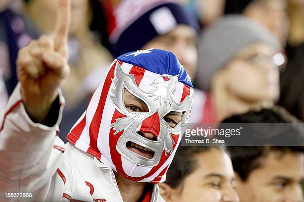 S Women's National Team fan cheers against the China Women's National Team in an international friendly game at BBVA Compass Stadium on December 12...