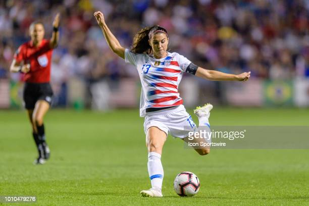 S Womens National Team forward Alex Morgan looks to shoot in the 2nd half during a Tournament of Nations international soccer match between the...