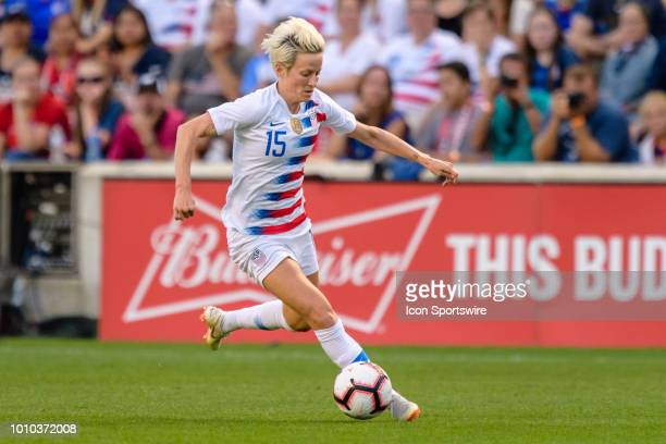 S Womens National Team forward Megan Rapinoe dribbles with the ball in the first half during a Tournament of Nations international soccer match...