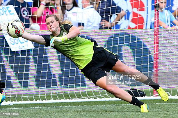 Womens National Team goalkeeper Alyssa Naeher during warm ups prior to the game between the Korea Republic and the US Womens National Team played at...