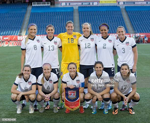 US Women's National Team players Sydney Leroux Christie Rampone Becky Sauerbrunn Kristie Mewis Heather O'Reilly Carli Lloyd Lauren Cheney Alex Morgan...
