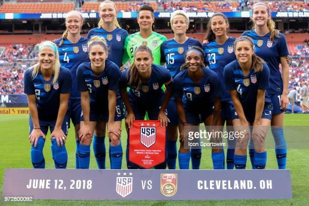 S Women's National Team starting lineup of midfielder Julie Ertz midfielder Morgan Brian forward Alex Morgan forward Crystal Dunn defender Sofia...