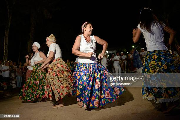 Womens of Umbanda during jongo dance performance