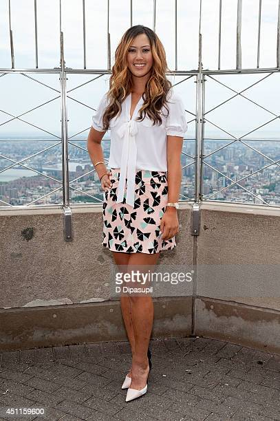S Women's Open Golf Champion Michelle Wie visits The Empire State Building on June 24 2014 in New York City