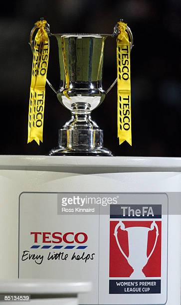 Women's Premier League Cup Trophy pictured before the FA Women's Premier League Cup Final between Arsenal and Doncaster Rovers Belles at Scunthorpe...